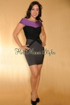 andrea calle, Gray-Blk-Purple Luxe Dress