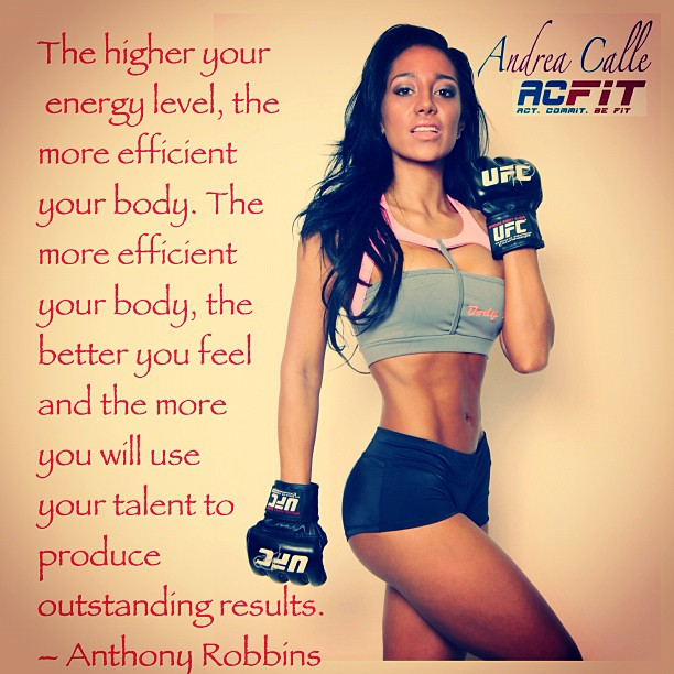 andrea calle, inspirational fitness quote, fitness