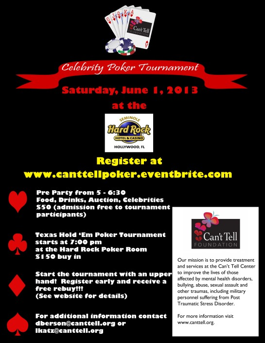 Can't Tell Foundation Celebrity Poker Tournament poster
