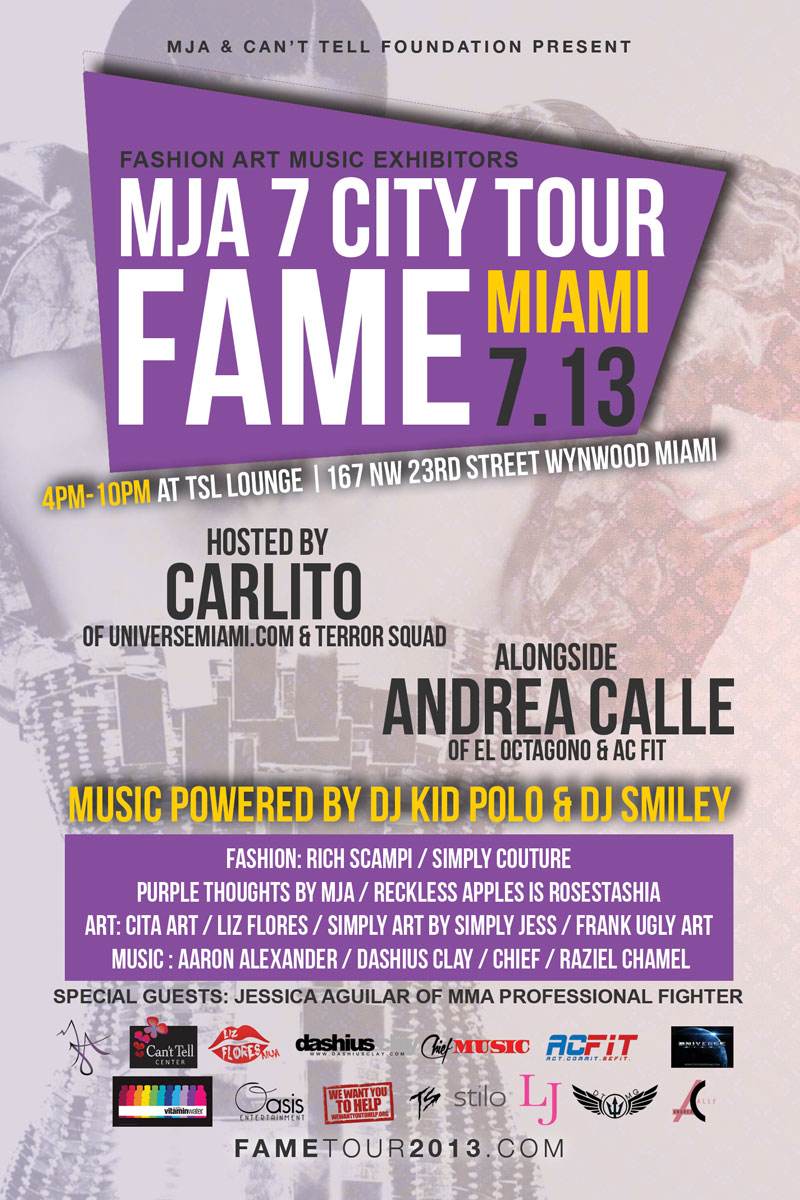 fame, FAME by MJA 7 City Tour