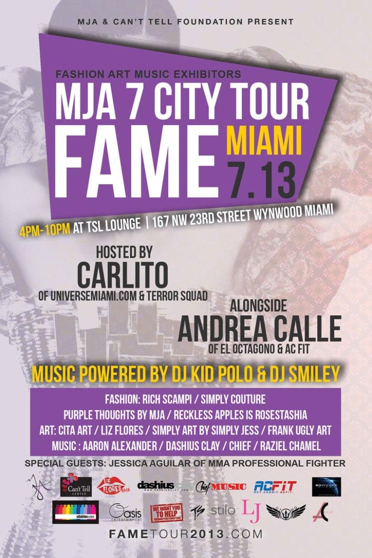 fame, FAME by MJA 7 City Tour