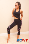 black and pink set, ac fit, active wear