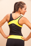 black and yellow set, back, ac fit, active wear