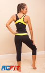 black and yellow set, back all, ac fit, active wear