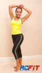 yello and aqua set, ac fit, active wear