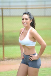 TV fitness and MMA star Andrea Calle keeps in shape with sweaty Miami workout